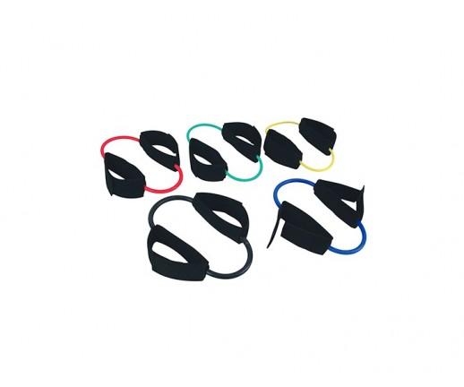 Tubing (rzemień) rehabilitacyjny MSD Cuff-Ring Tube Loop, z mankietami na kostki