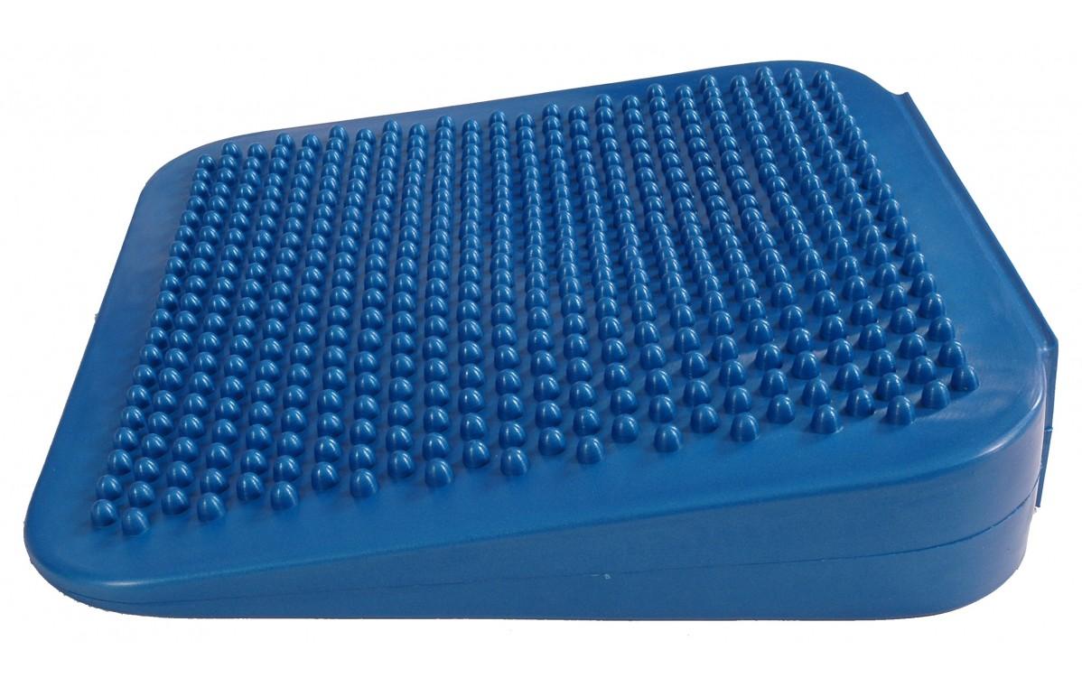 Poduszka sensomotoryczna kwadratowa Mambo Sitting Wedge MSD niebieska 34 cm (z pompką) 04-020201