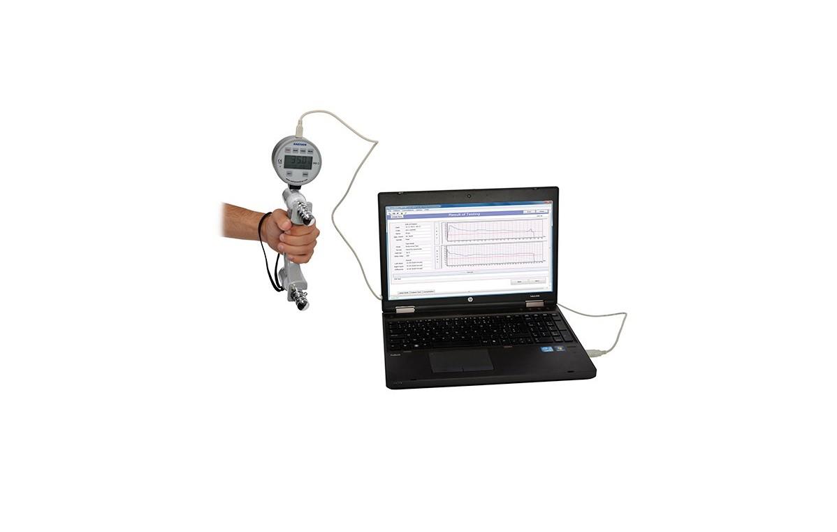 Cyfrowy dynamometr (siłomierz) do pomiaru siły rąk + oprogramowanie diagnostyczne do PC - 08-010202
