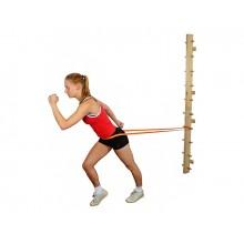 Drabinka drewniana (montaż do ściany) do ćwiczeń z taśmami i tubingiem MSD (15x10x100 cm) - 01-300001