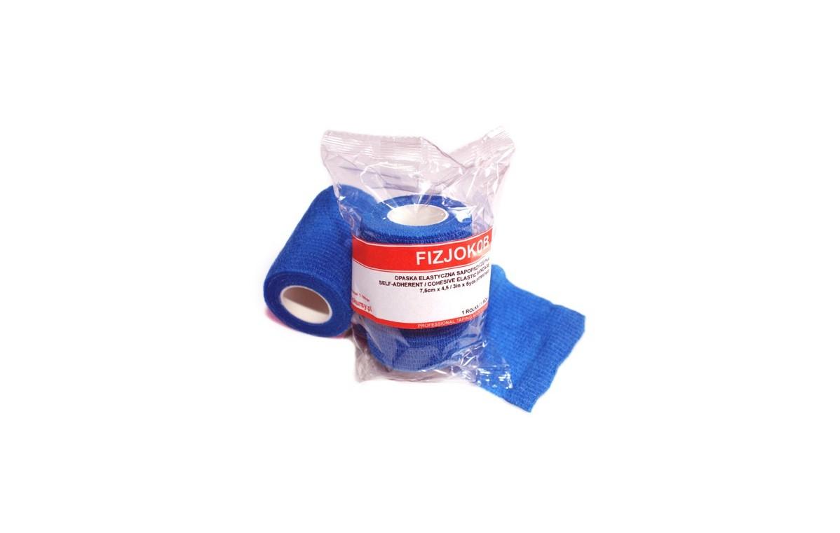 Bandaż samoprzylepny koban 7,5 cm x 4,5 m (niebieski)