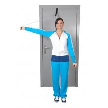 Przelotka do ćwiczeń mięśni i ramion z linką i uchwytem metalowym do drzwi MoVes Shoulder Rope Pulley - 01-400102