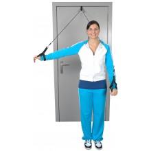 Przelotka do ćwiczeń mięśni i ramion z linką i uchwytem do rąk MoVes Shoulder Rope Pulley - 01-400103