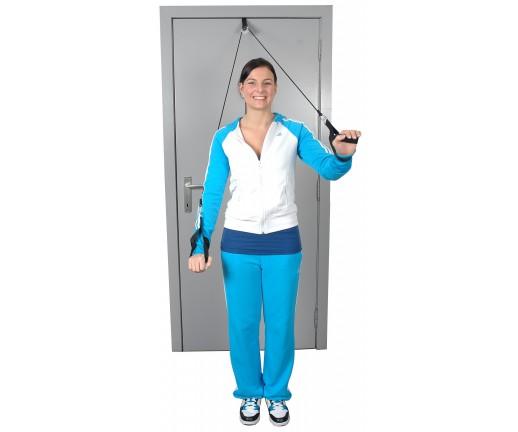 Przelotka do ćwiczeń mięśni i ramion z linką i uchwytem do rąk MSD Shoulder Rope Pulley - 01-400103
