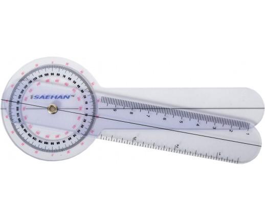 Goniometr plastikowy MoVes 15 cm 0 - 360 st. co 1 st. 08-030101