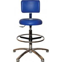 Taboret (krzesło) medyczne TR-04 z oparciem (aluminium)