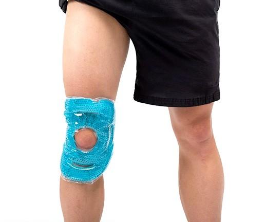 Okład (kompres) żelowy MoVeS Hot/Cold Pearl Pack-Knee/Elbow z perełkami żelowymi 43 x 17,5 cm - 07-040301
