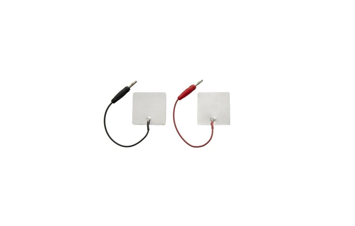 Elektroda aluminiowa 25x25 mm z przyłączem męskim lub żeńskim - 2 lub 4 mm