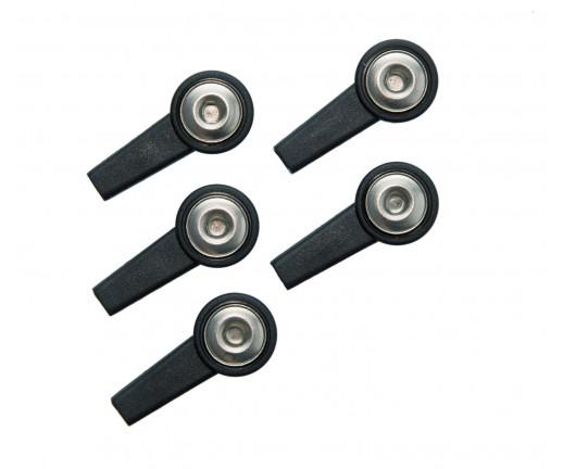 Klips do elektrod samoprzylepnych gniazdo 4 mm-czarny