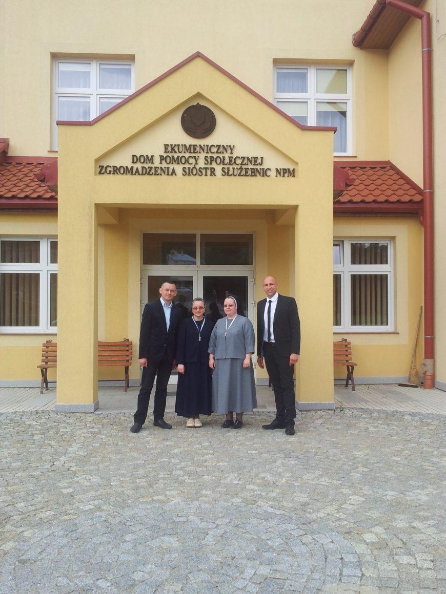 Współpraca z Ekumenicznym Domem Pomocy Społecznej Zgromadzenia Sióstr Służebnic NPM