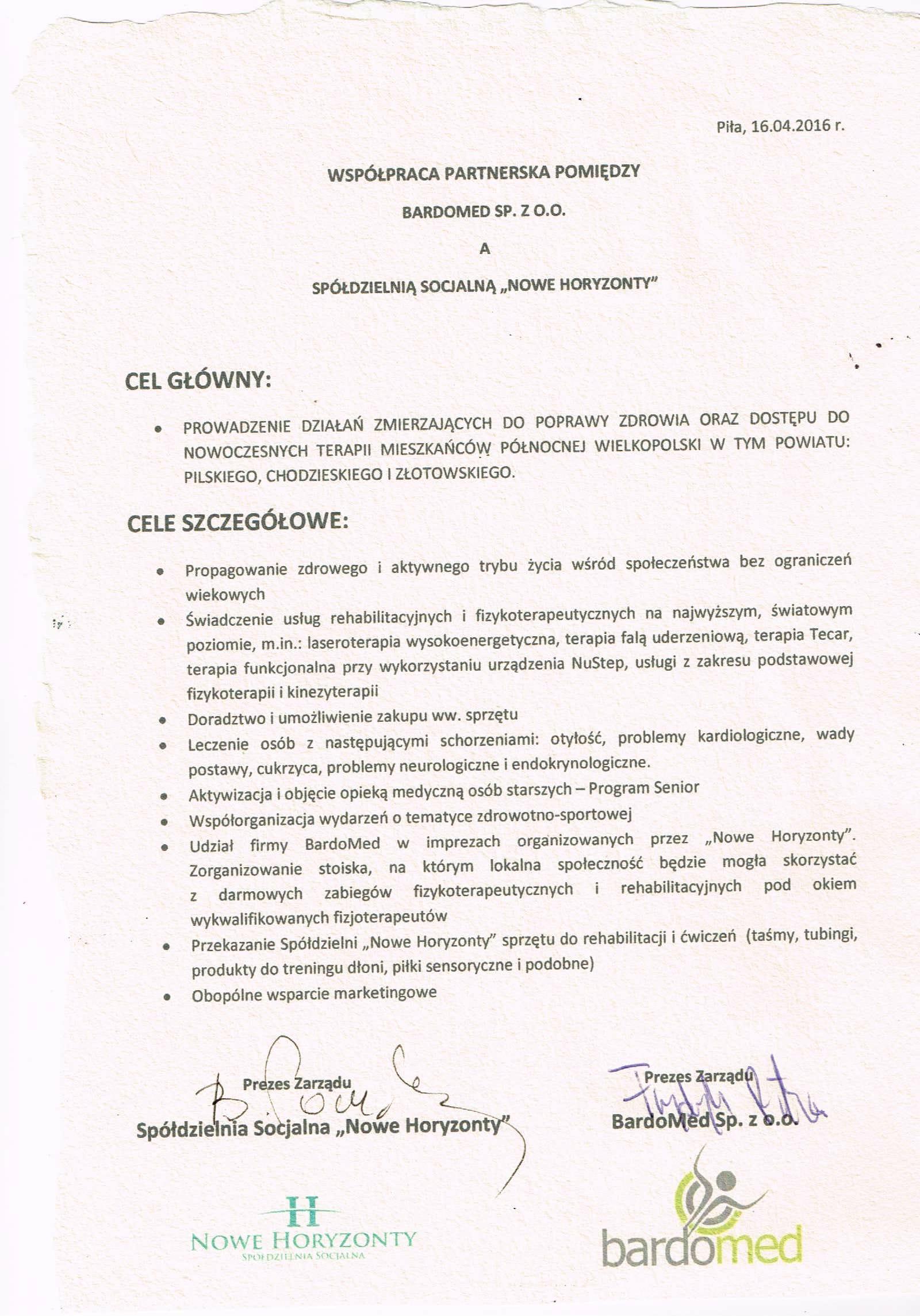 Umowa współpracy z marką BardoMed - sklep rehabilitacyjny