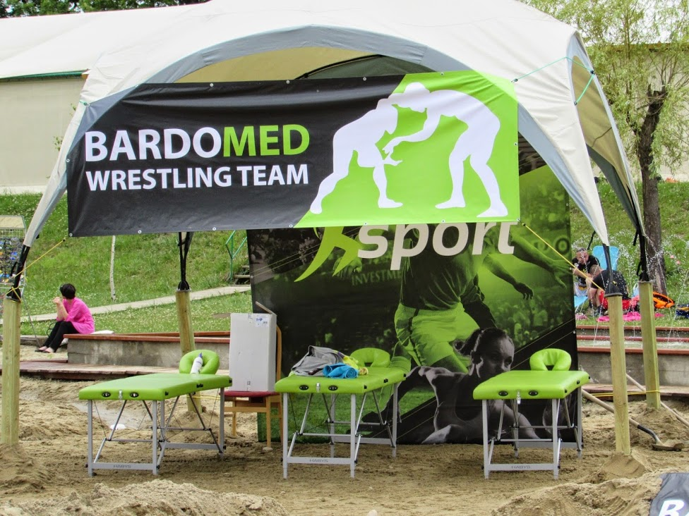 BardoMed Wrestling team - namiot do masażu
