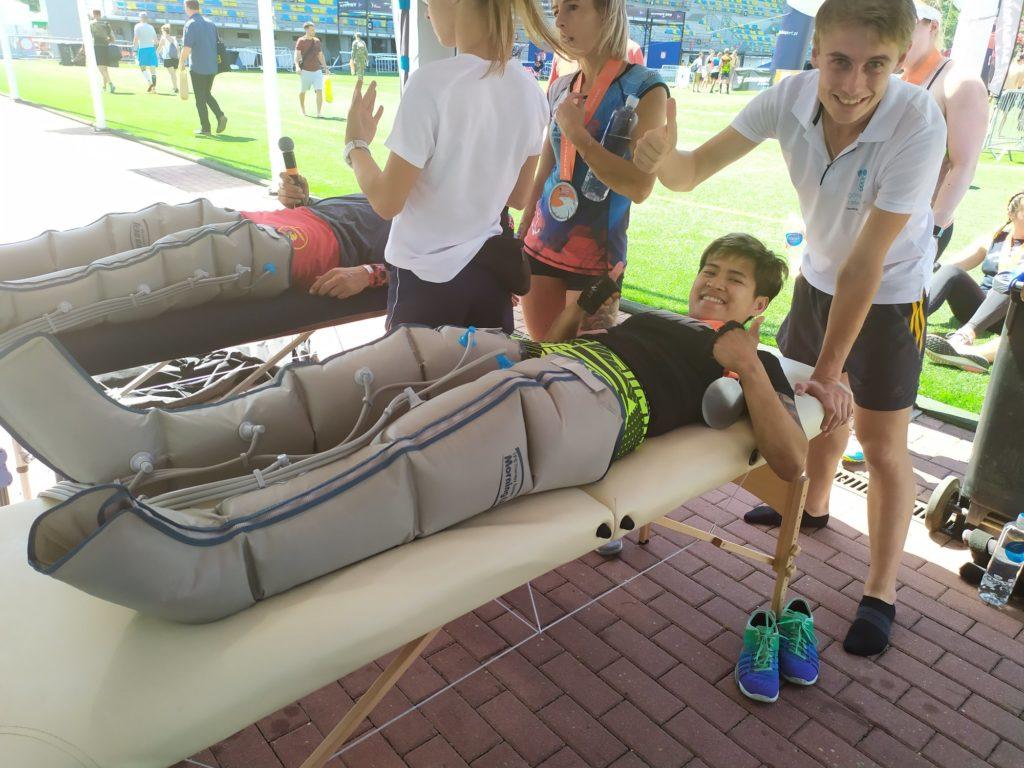 Drenaż limfatyczny podczas zawodów sportowych