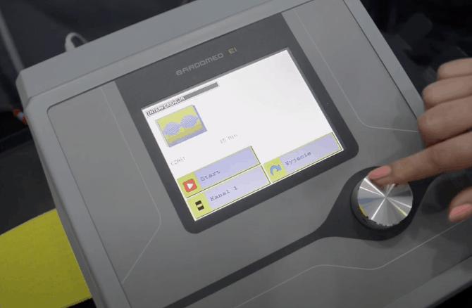 Interferencja - parametry zabiegu ustawiane na aparacie do elektroterapii