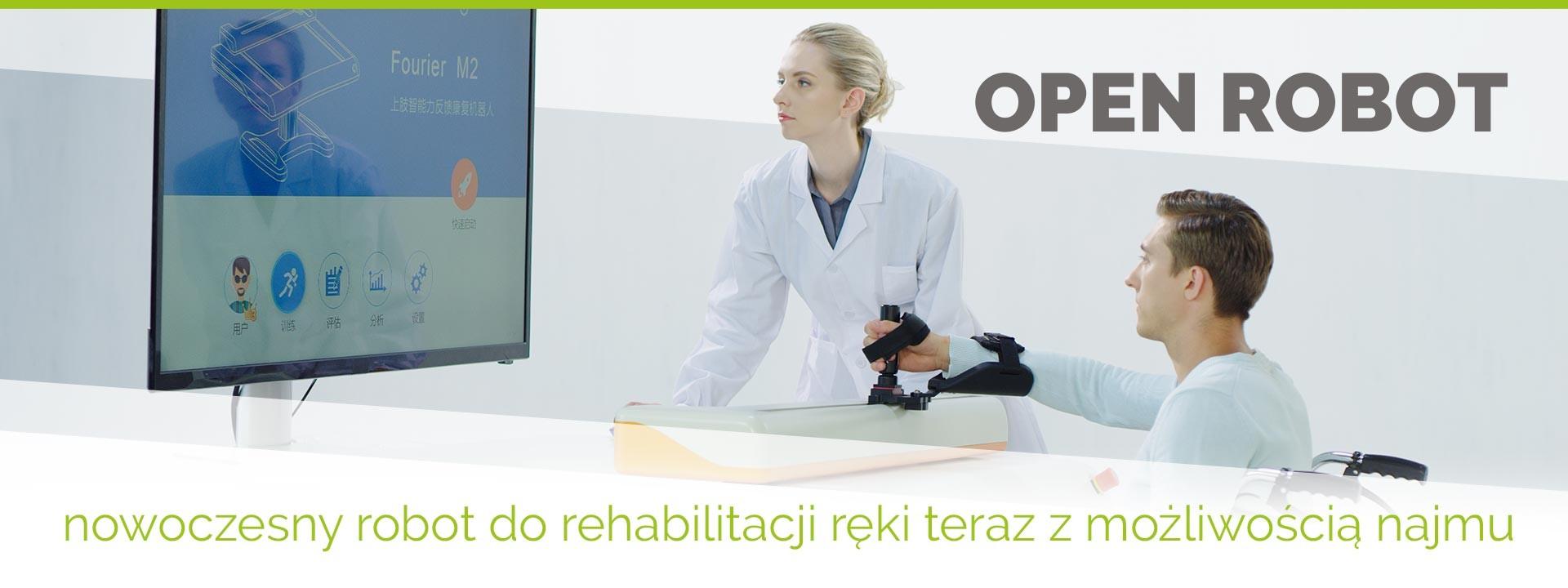 Projekt OPEN ROBOT - oferta najmu robota do rehabilitacji ręki